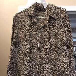 100% Silk leopard print blouse-Gorgeous